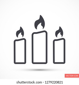 candle vector icon 10 eps