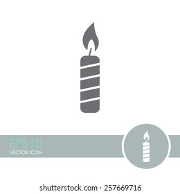 Candle vector icon.