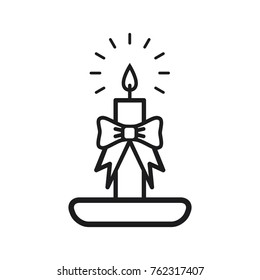 candle vector icon, christmas candle icon