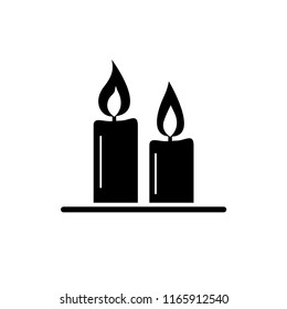 candlelight party icon vector