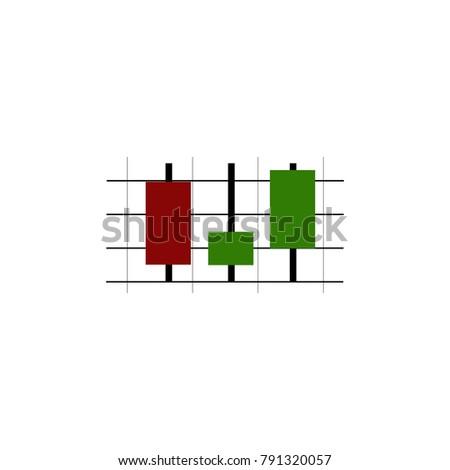 Candlestick Chart Bitcoin Icon Color Vector Stock Vector Royalty