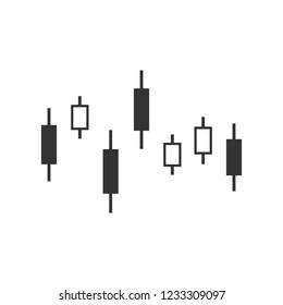 Candlestick chart icon. Vector illustration, flat design.