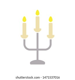 candlestick icon. flat illustration of candlestick - vector icon. candlestick sign symbol