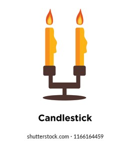 Candlestick icon vector isolated on white background, Candlestick transparent sign , colorful magic symbols