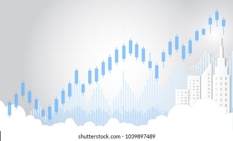 Candlestick patterns is a style of financial chart, Suitable for forex stock market investment trading concept and used to describe price movements of a security, derivative, or currency.