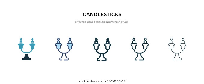 candlesticks icon in different style vector illustration. two colored and black candlesticks vector icons designed in filled, outline, line and stroke style can be used for web, mobile, ui