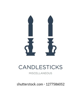 candlesticks icon vector on white background, candlesticks trendy filled icons from Miscellaneous collection, candlesticks vector illustration