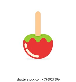 candy apple icon. Vector image isolated on white background