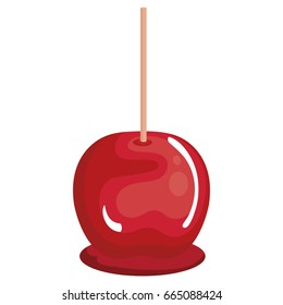 candy apple isolated icon
