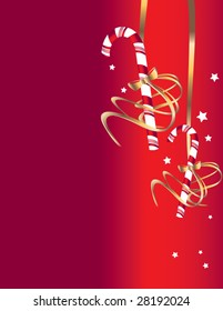 Candy cane background 2 - vector