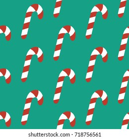 Candy Cane Pattern On Green Background Stock Illustration 754172959
