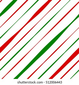 Candy Cane Red and Green Stripes Seamless Pattern. Great for Christmas projects, wrapping paper, backgrounds or printed on fabric or textile.