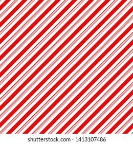 Candy Cane Stripes Seamless Pattern - Diagonal candy cane stripes repeating pattern design