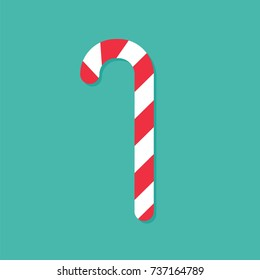 Candy Cane Vector Isolate Element