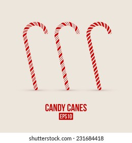 candy canes elements for Christmas design template. Vector illustration - eps10