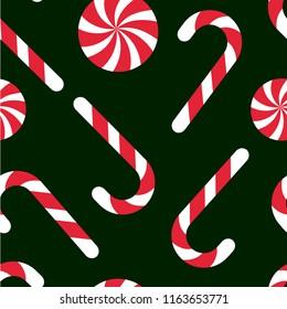 Candy chritsmas seamless pattern. Vector