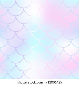 mermaid skin fish scale pattern pale stock vector royalty free