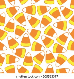 Candy corn seamless vector pattern