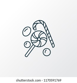 Candy icon line symbol. Premium quality isolated confection element in trendy style.