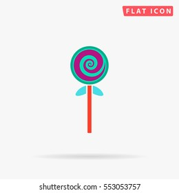 Candy Icon Vector. Flat color symbol on white background with shadow