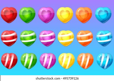 Candy items for match 3 game