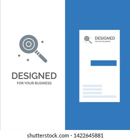 Candy, Lollypop, Lolly, Sweet Grey Logo Design and Business Card Template