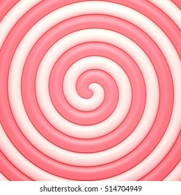 Candy sweet spiral abstract background.