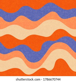 Candy wrapping wavy seamless pattern. Nautical waves fluid doodle vector. Summer wavy stripes childish fabric print. Trendy leaner ribbons candy pattern. Background ornament.