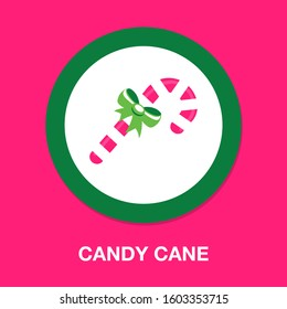 candy-cane icon. flat illustration of candy-cane - vector icon. candy-cane sign symbol - Shutterstock ID 1603353715