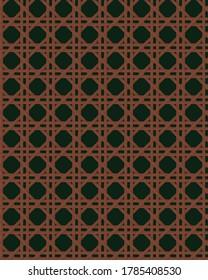 Cane webbing illustration vector seamless pattern