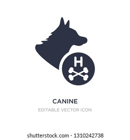 canine icon on white background. Simple element illustration from Medical concept. canine icon symbol design.