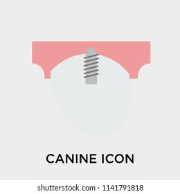 Canine icon vector isolated on white background for your web and mobile app design, Canine logo concept