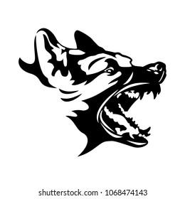 Canine logo vector.