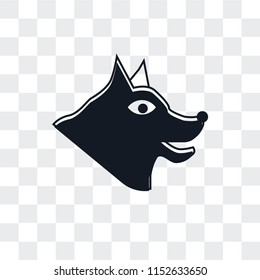 Canine vector icon isolated on transparent background, Canine logo concept