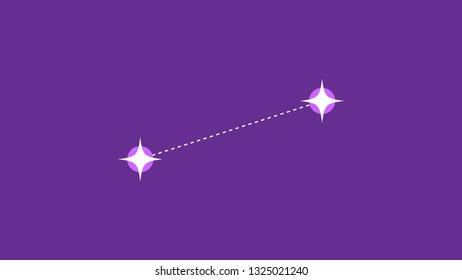 Canis constellation vector design Canis Venatici vetor