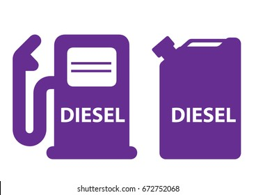canister fuel diesel pump colorful icon vector