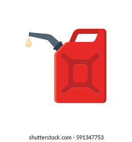 Canister of gasoline. Vector Illustration isolated on white background.