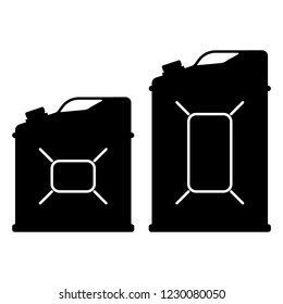 Canister of gasoline. Vector illustration of gasoline canister. Motor oil icon.