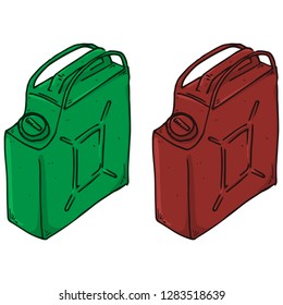 Canister hand drawn. Vector illustration of a canister for gasoline, fuel. Icon gasoline canister.