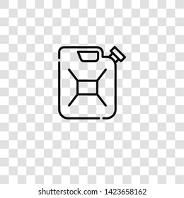canister icon from car repair collection for mobile concept and web apps icon. Transparent outline, thin line canister icon for website design and mobile, app development
