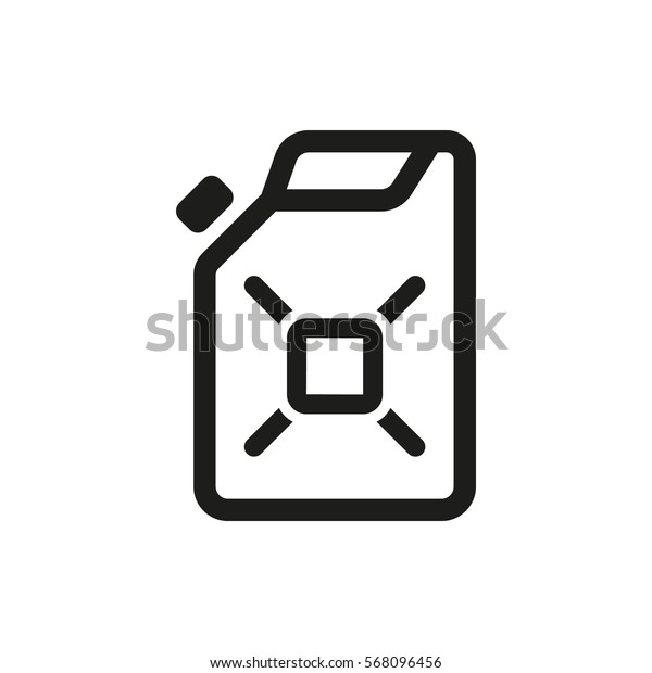 Canister icon. Container and jerrican, jug, gas symbol. Flat design. Stock - Vector illustration