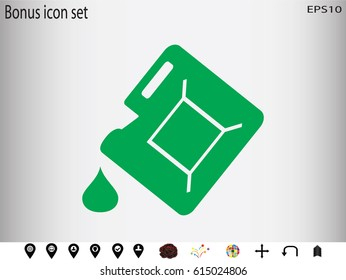 canister, icon, vector illustration eps10