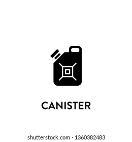 canister icon vector. canister sign on white background. canister icon for web and app