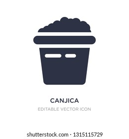 canjica icon on white background. Simple element illustration from Food concept. canjica icon symbol design.
