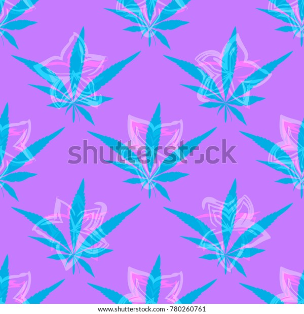 Cannabis Abstract Pattern Leafs Print Clothes Stock Vector Royalty Free 780260761