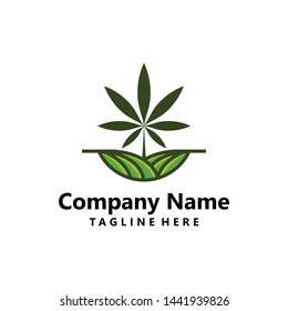 Cannabis Agriculture logo. Leaf fresh logo. Vector logo design for agriculture