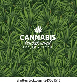 Cannabis background EPS 10 vector stock illustration
