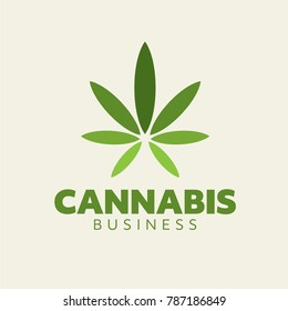 Cannabis Business Logo Concept