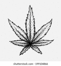 Cannabis drawing.