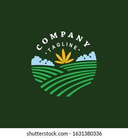 cannabis farm for logo badges